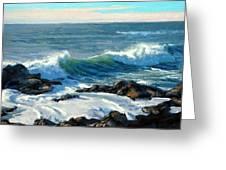Rising Surf Greeting Card