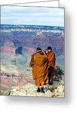 Risk-taking At The Grand Canyon Greeting Card