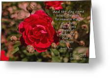 Risk To Blossom Greeting Card