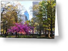 Rittenhouse Square In Springtime Greeting Card