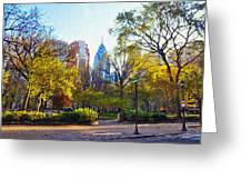 Rittenhouse Square In The Spring Greeting Card
