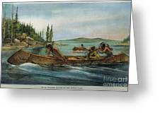 Rival Fur Traders  Greeting Card