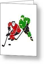 Rivalries Blackhawks And North Stars Greeting Card