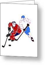 Rivalries Canadiens And Nordiques Greeting Card