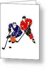 Rivalries Oilers And Flames Greeting Card