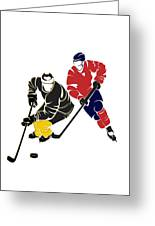 Rivalries Penguins And Capitals Greeting Card