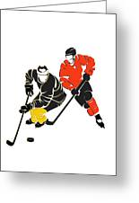 Rivalries Penguins And Flyers Greeting Card