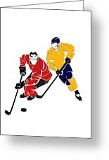 Rivalries Senators And Sabres Greeting Card