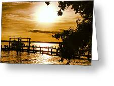 River Acres Jaynes Sunset Greeting Card