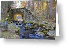 River And Bridge Greeting Card