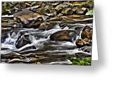 River And Rocks Greeting Card