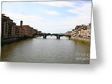 River Arno Greeting Card