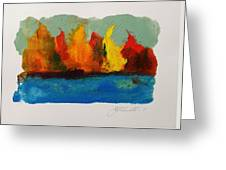 River Bank In Color Greeting Card