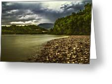 River Below The Clouds Greeting Card