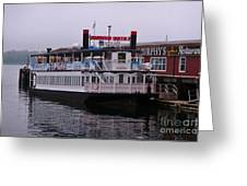 River Boat At Dock Greeting Card