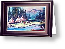 River Camp Greeting Card
