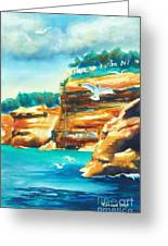 River Cliffs 2 Greeting Card
