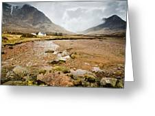 River Coupall In Glen Coe Greeting Card