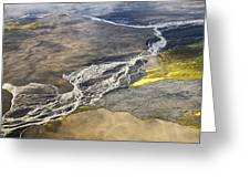 River Delta Iceland Greeting Card