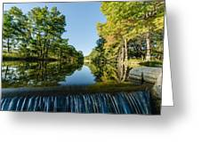 River Falls In The Fall On The Guadalupe River Greeting Card by Jeffrey W Spencer