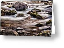 River Flowing Over Rocks Greeting Card