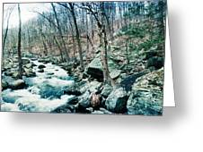 River Flowing Through A Valley, Hudson Greeting Card
