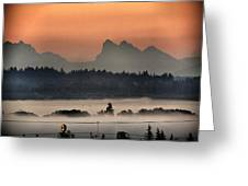 River Fog Greeting Card
