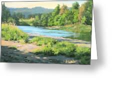 River Forks Morning Greeting Card