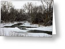 River Freeze Greeting Card