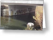 River Graffiti Greeting Card