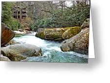 River House In Spring Greeting Card