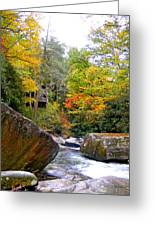 River House In The Fall Greeting Card