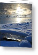 River Ice Greeting Card by Hanne Lore Koehler
