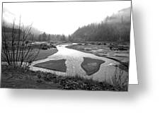 River In The Rain Greeting Card by Gordon  Grimwade