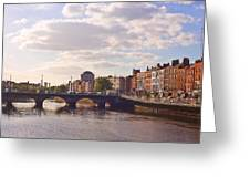 River Liffey 2 - Dublin Greeting Card