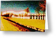 River Lights Greeting Card
