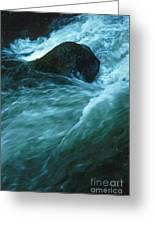 River Lynn In Surge Greeting Card