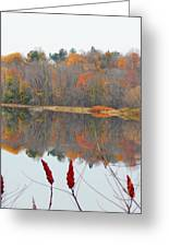River Mirror Autumn Greeting Card