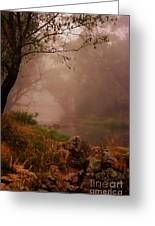 River Mist On A Mystical Morning Greeting Card