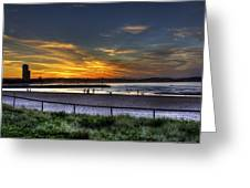 River Mouth At Sunset Greeting Card