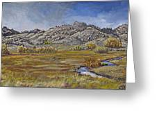 River Mural Autumn View  Greeting Card