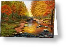 River Of Colors Greeting Card