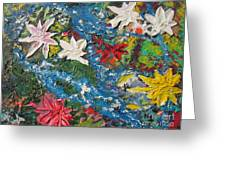 River Of Flowers  Greeting Card by Max Lines