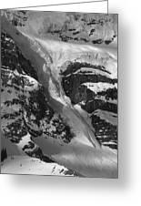 1m3646-bw-river Of Ice On Snowbird Glacier Greeting Card