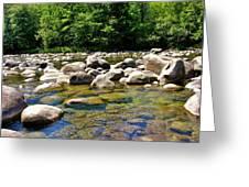 River Of Rocks Greeting Card