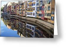 River Onyar Girona Spain Greeting Card