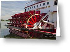 River Paddle Steamer Greeting Card