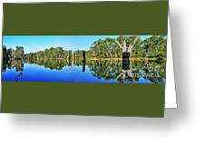 River Panorama And Reflections Greeting Card