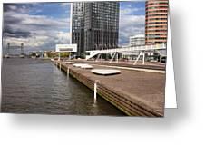 River Promenade In Rotterdam Greeting Card