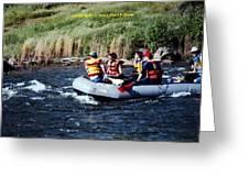 River Rafting Greeting Card